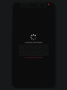 Loading is the introduction to my social media series diving into the deep dystopian society we are currently entering. Once you load a social media app your happiness immediately starts to become compromised and controlled by larger companies.