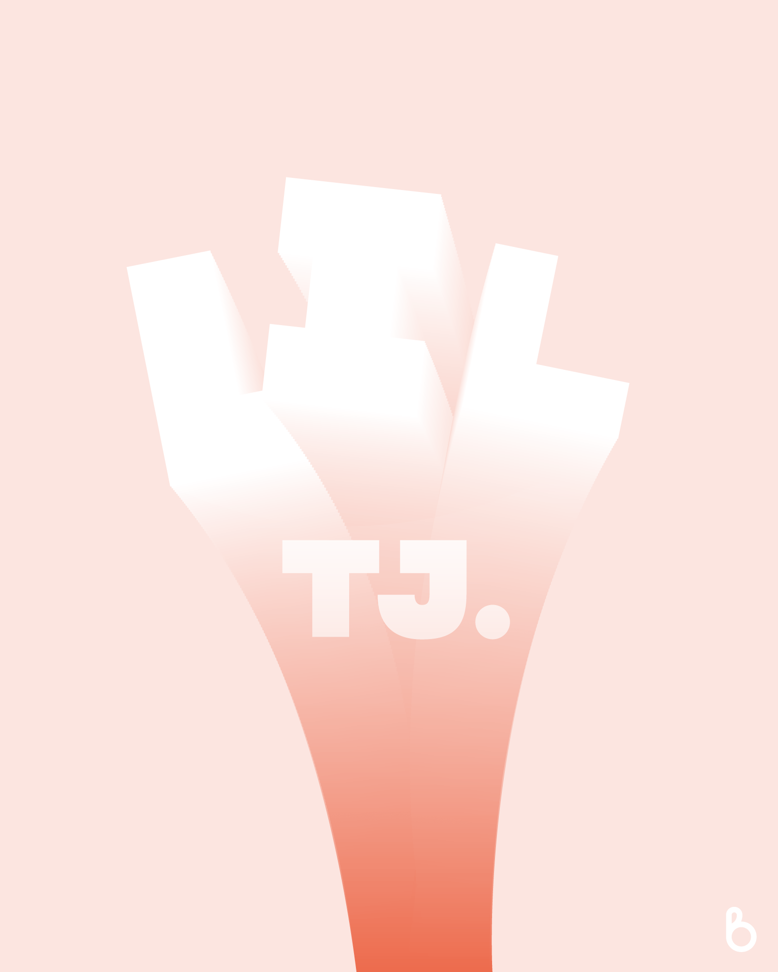 This was an experimental piece with typography and 3D. Admittedly this could be replaced with any text; however, I do enjoy the final result and think the modern, light-nature further complements the product which is Lil TJ (https://bybrice.com/products/lil-tj)
