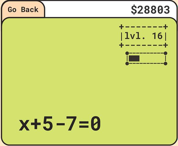 Algebra Subtraction Example; x+5-7=0